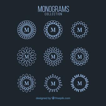 Collection of geometric ornamental monograms