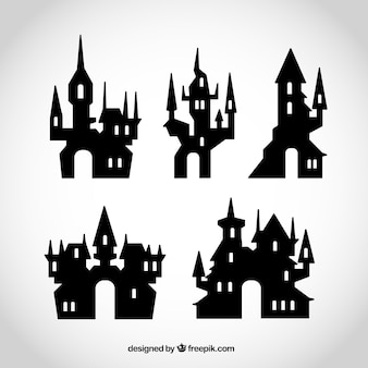 Collection of halloween castles
