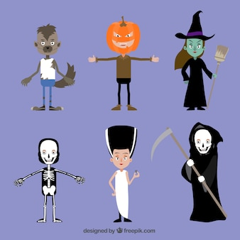 Collection of halloween costumes