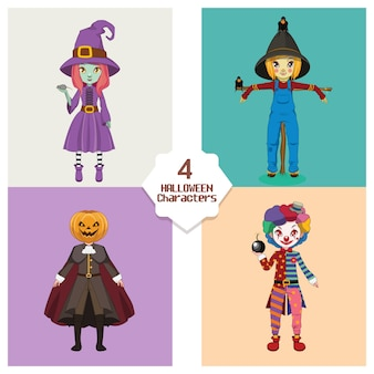 Collection of Halloween dolls