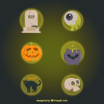 Collection of halloween elements