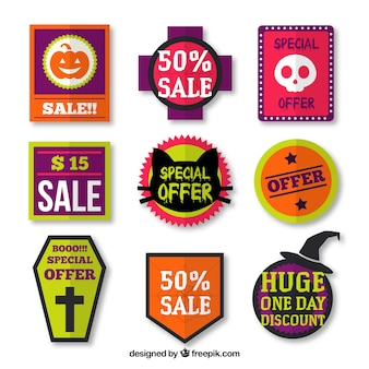 Collection of halloween labels