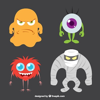 Collection of halloween monster