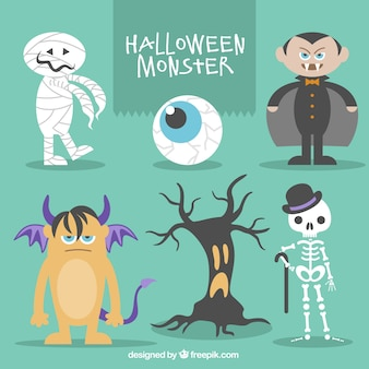 Collection of halloween monsters