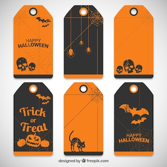 Collection of halloween tags