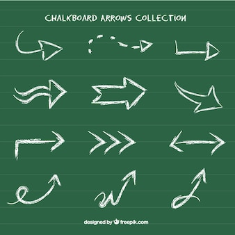 Collection of hand drawn arrow