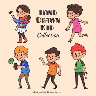 Collection of hand-drawn children