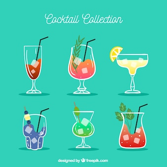 Collection of hand-drawn cocktail