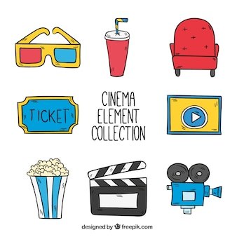 Collection of hand drawn film elements