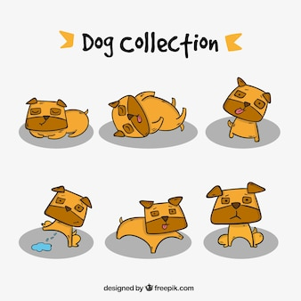 Collection of hand drawn nice dogs