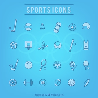Collection of hand drawn sport icon