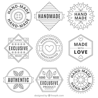 Collection of handmade vintage logos