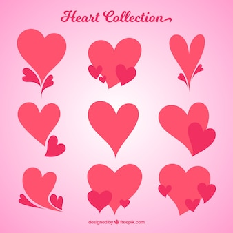 Collection of hearts