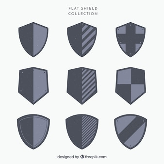 Collection of heraldic shields
