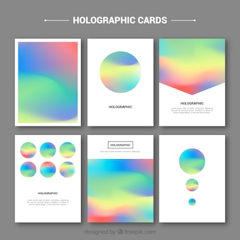Collection of holographic card