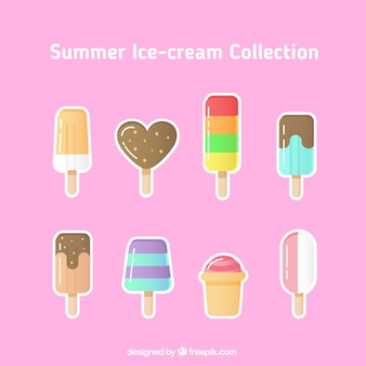 Collection of ice-cream sticker
