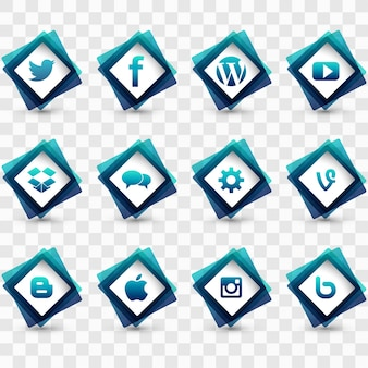 Collection of icons for social networks
