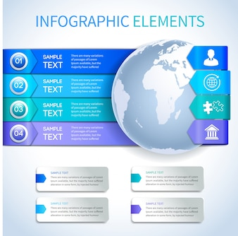 Collection of infographic elements design