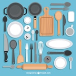 Collection of kitchen utensils