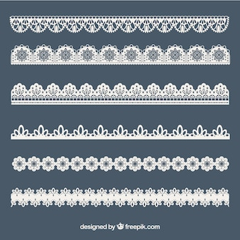 Collection of lace ornaments