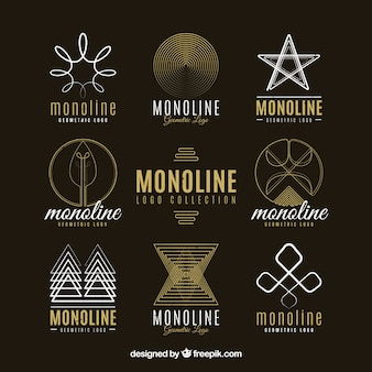 Collection of linear abstract logo