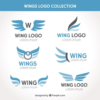 Collection of logo with wings