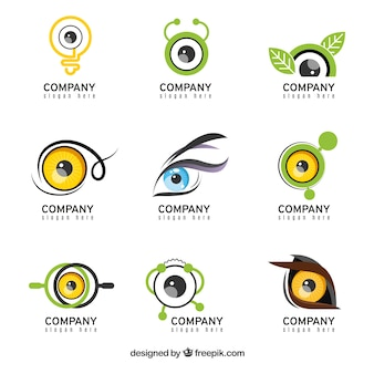Collection of logos in abstract design