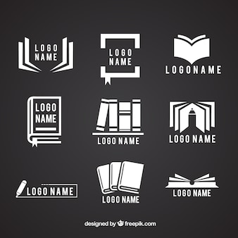 Collection of logos with books