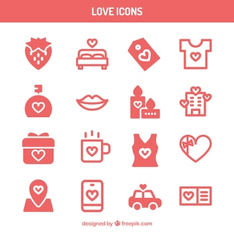 Collection of love icons