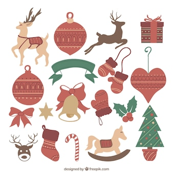 Collection of lovely christmas elements