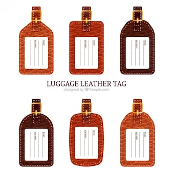 Collection of luggage leather tag