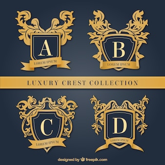 Collection of luxury crests