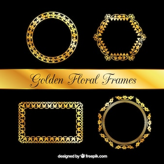 Collection of luxury floral frames