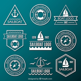 Collection of marine logos