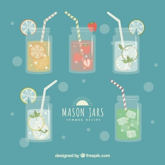 Collection of mason jars