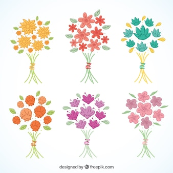 Collection of minimalist bouquets