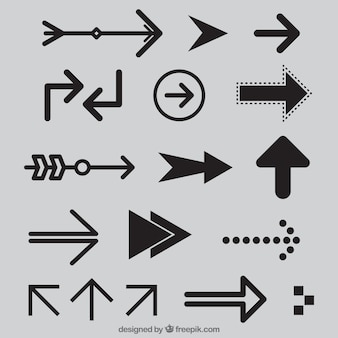 Collection of modern arrow