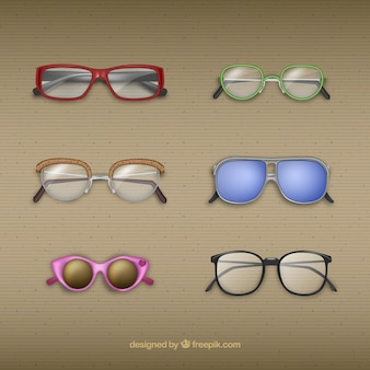 Collection of modern glasses