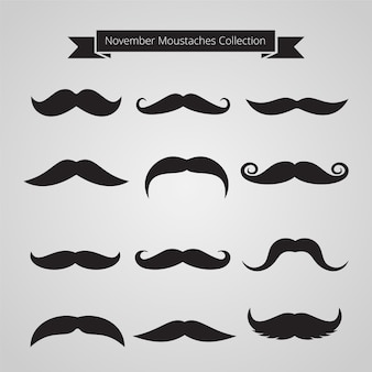 Collection of movember moustaches