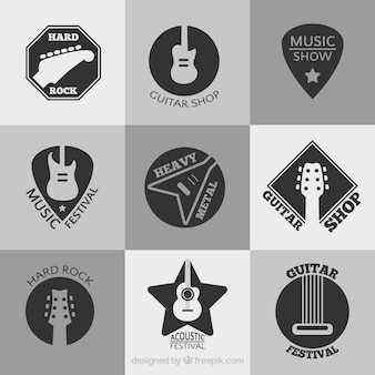 Collection of music festival logos