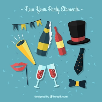 Collection of new year celebration element