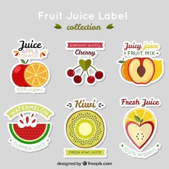 Collection of nice fruit stickers