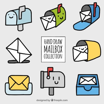 Collection of nice hand-drawn mailboxes