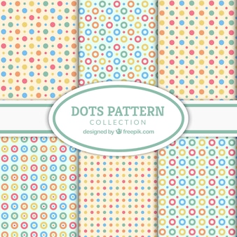 Collection of nice polka dot patterns