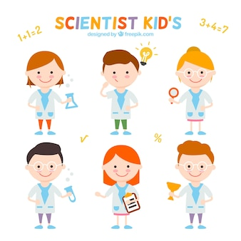 Collection of nice scientist kids