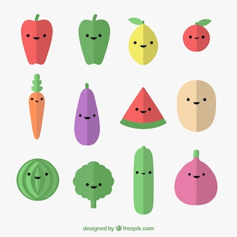 Collection of nice vegetable and fruit