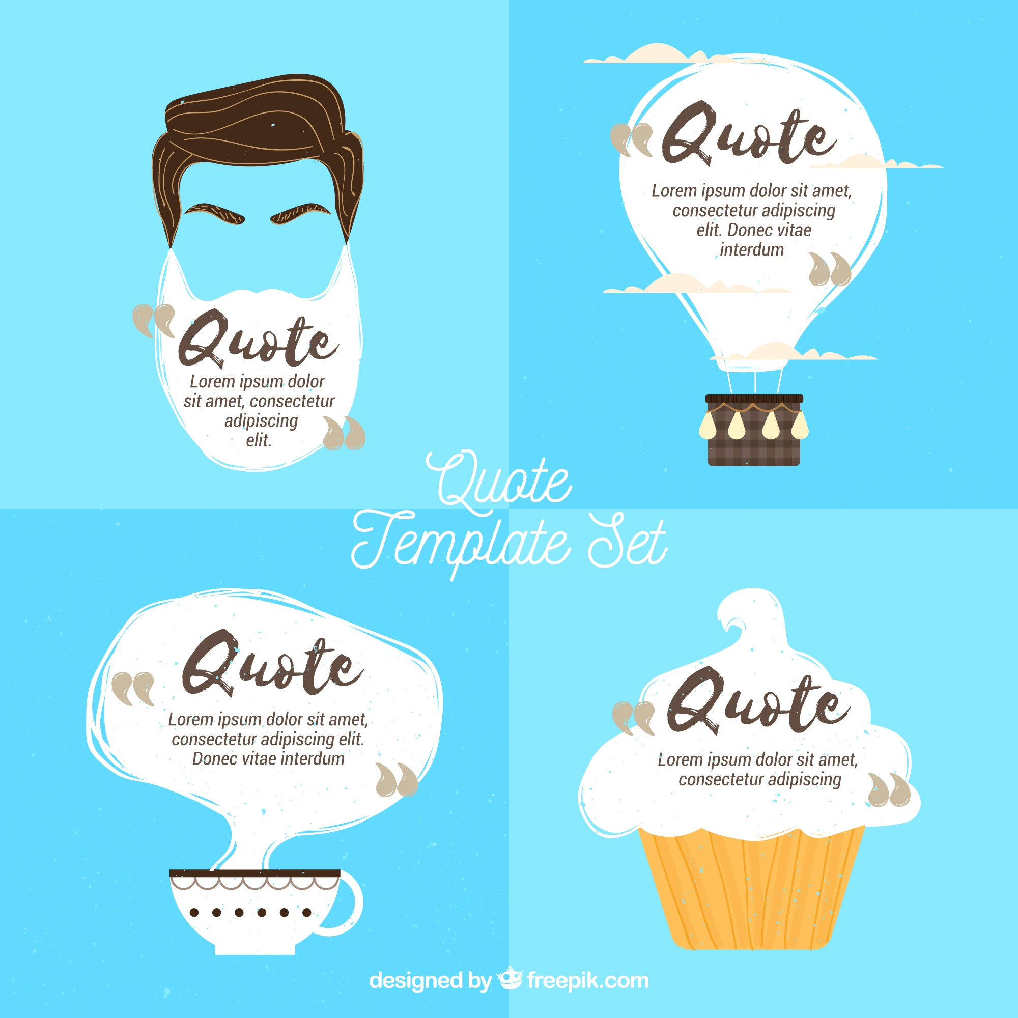 Collection of original quote templates