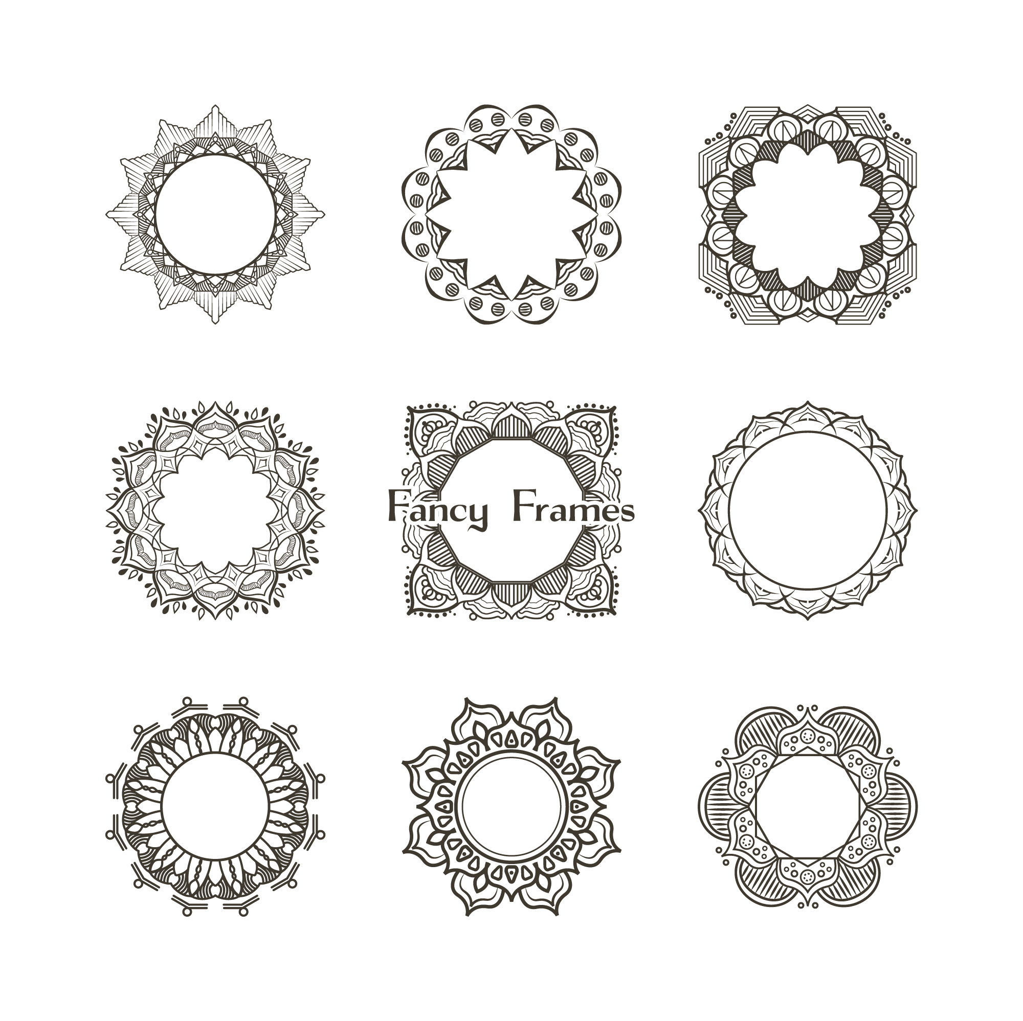 Collection of ornamental frames