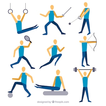 Collection of person doing sports