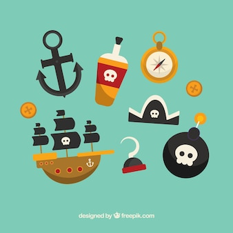 Collection of pirate element